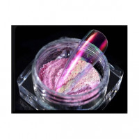 Огледален прах Aurora, полупрозрачен розов / лилав  3g